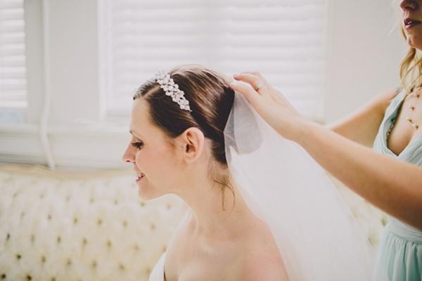 Bridal updo wedding