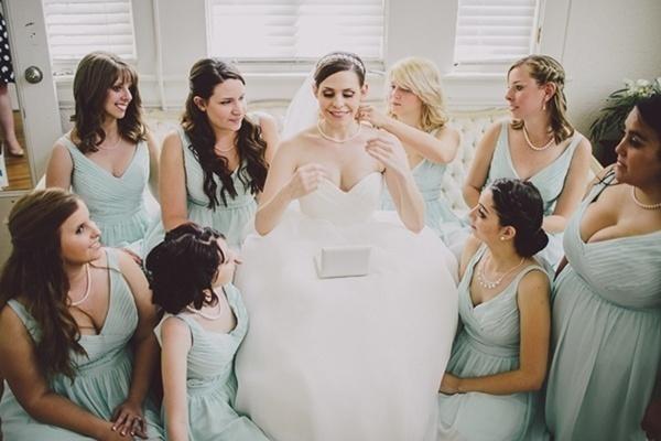 Bride bridesmaids photo
