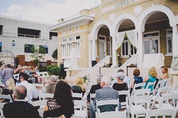 Wedding ceremony decor idea that's elegant and simple