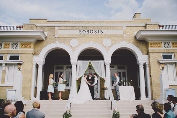 Wedding ceremony romantic and elegant