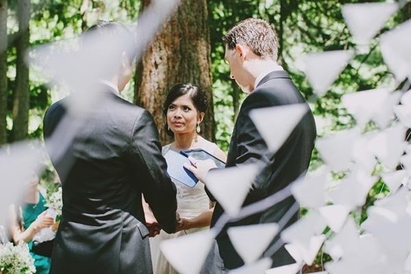 Lovely wedding ceremony photo