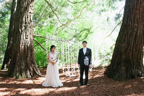 Amazing romantic forest wedding