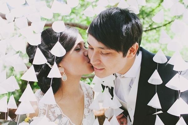 Sweet wedding ceremony photo
