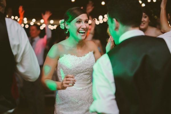 Incredibly happy bride at her wedding!