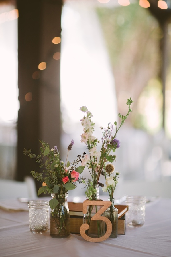Gorgeous floral pieces and table numbers!