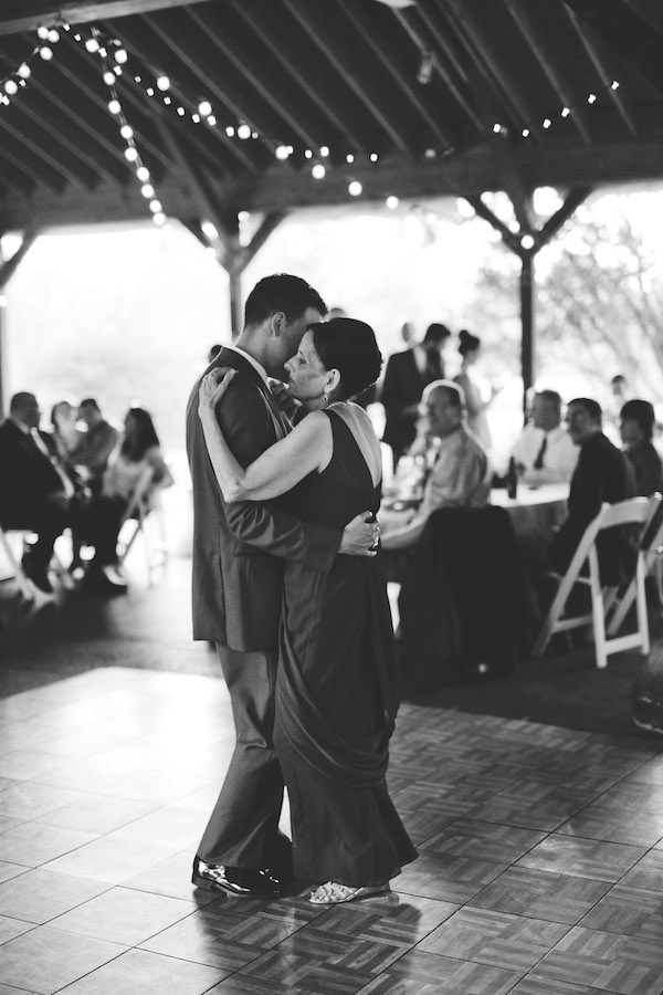 Beautiful mother and son dance!