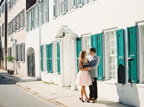 Adorable Charleston engagement photo