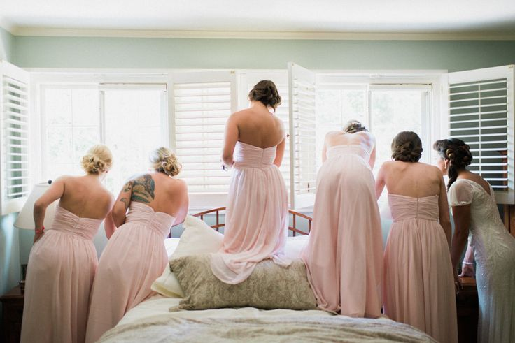 Pink bridesmaid dress idea