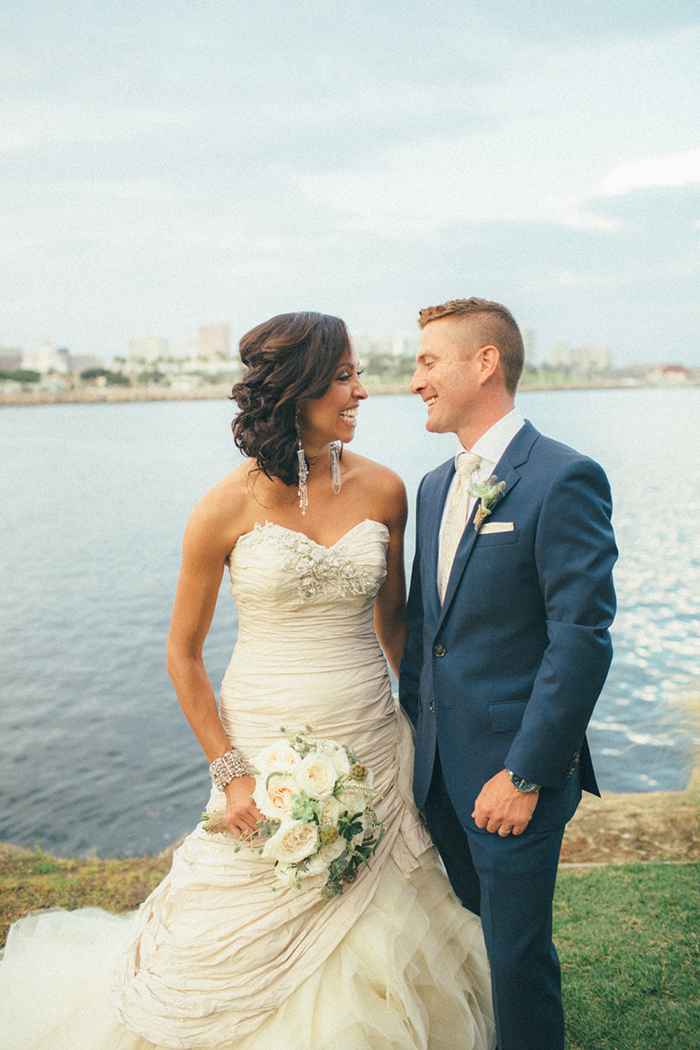Sweet long beach wedding