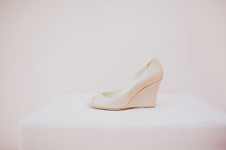 Lovely wedding wedge shoes