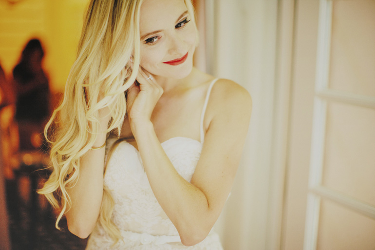 Bridal beauty and gorgeous curled hair