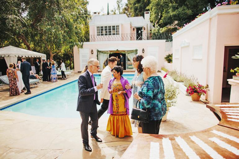Wedding guest at wedding venue