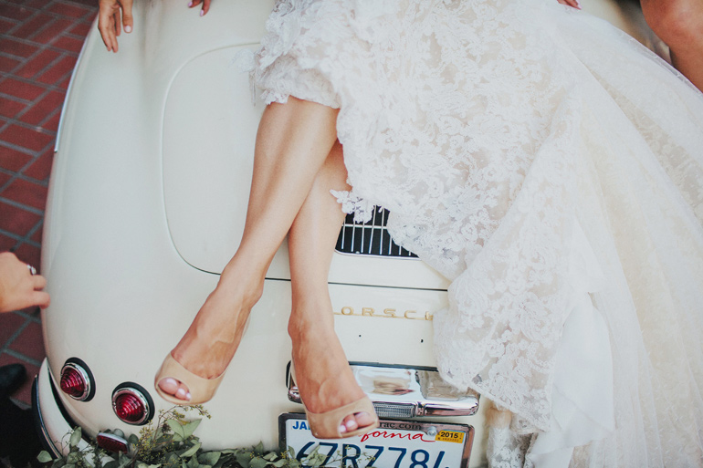 The bride and the getaway car