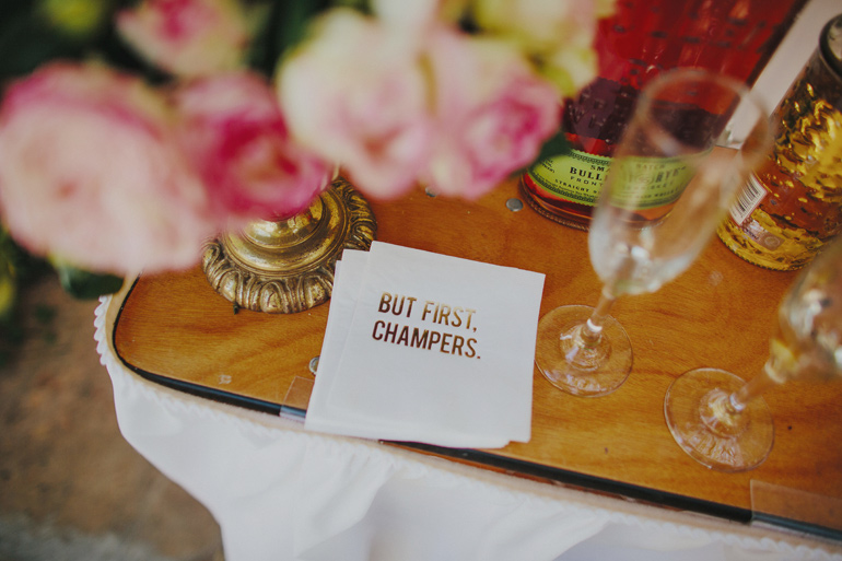 But first, champers napkin for a wedding. So cute!