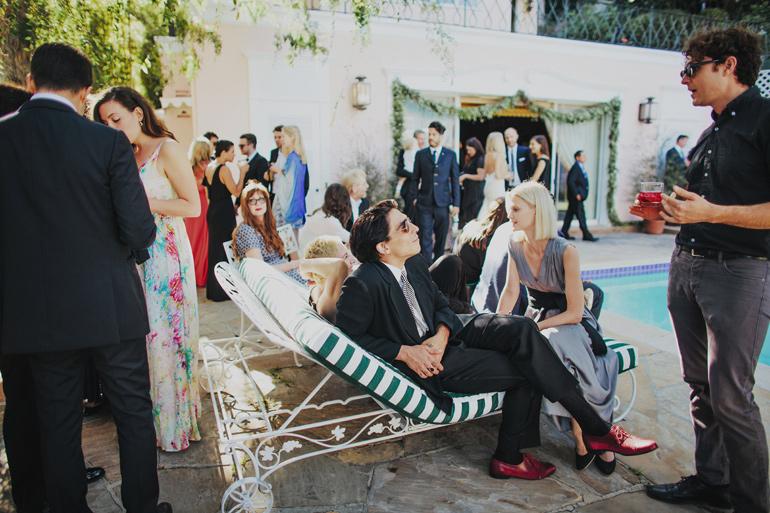 Glam Bel Air wedding reception