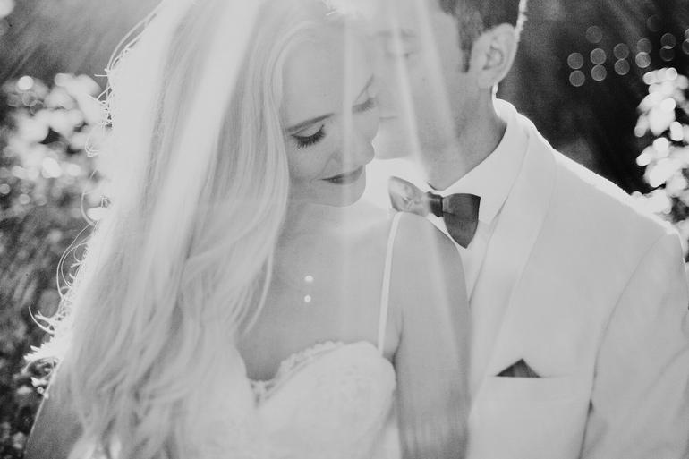 Gorgeous bride and groom portrait. So romantic!