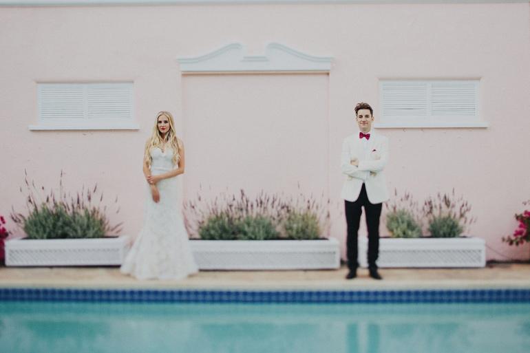 Sweet bride and groom portrait