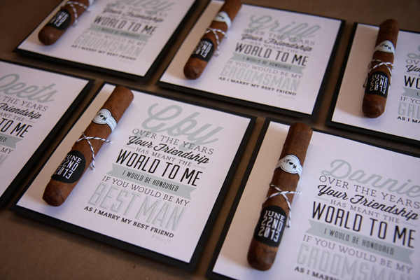buy diy custom groomsman cigar labels card
