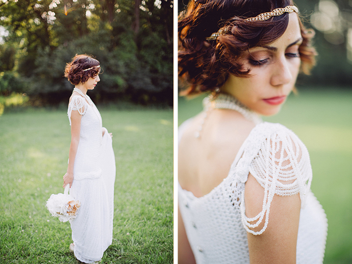 Vintage bridal hair and makeup