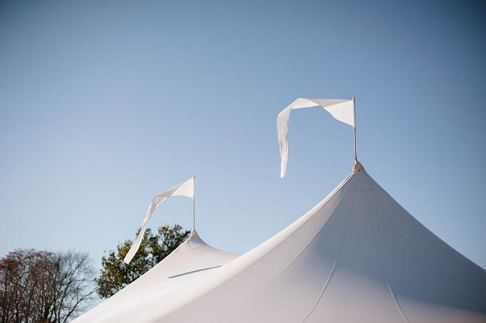 Tented fall wedding