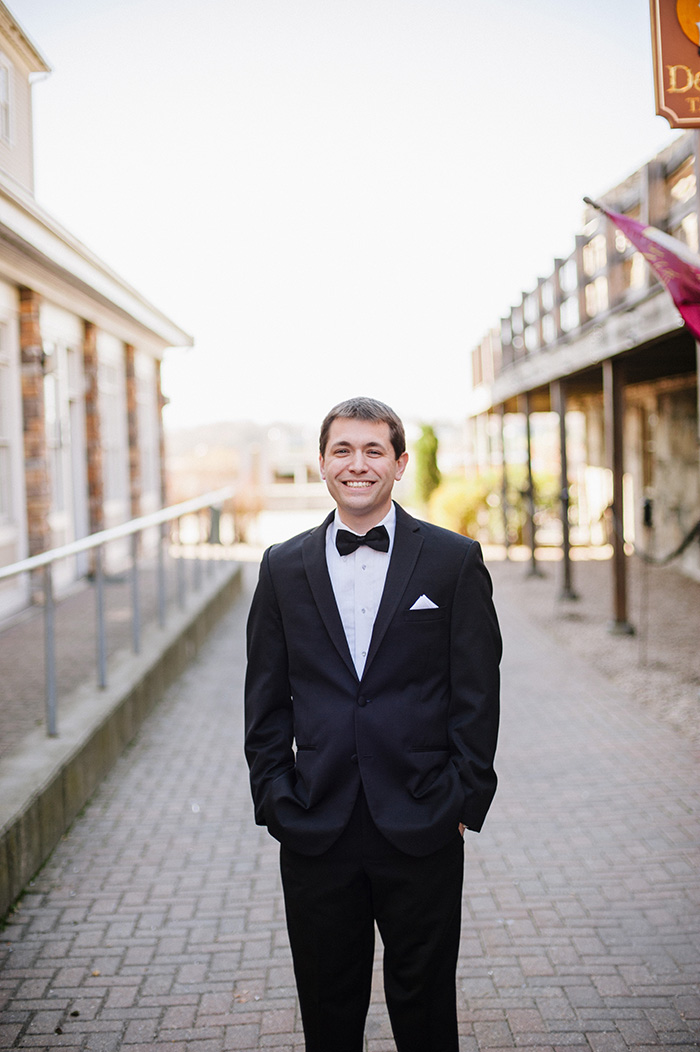Groom photo in a tux