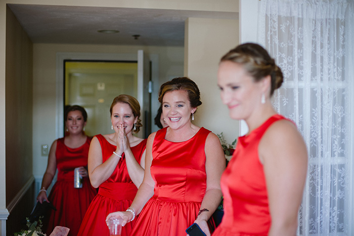 Red bridesmaid dress idea