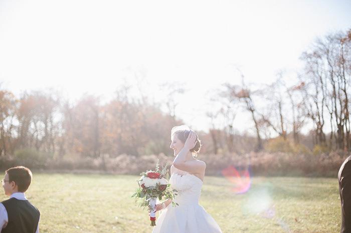 Fall bride photo
