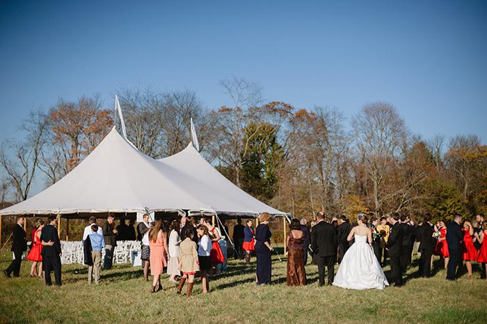 Gorgeous outdoor wedding photo