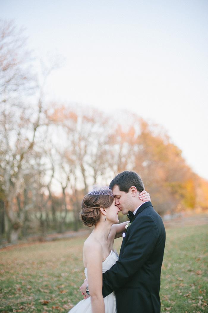 Fall wedding photo