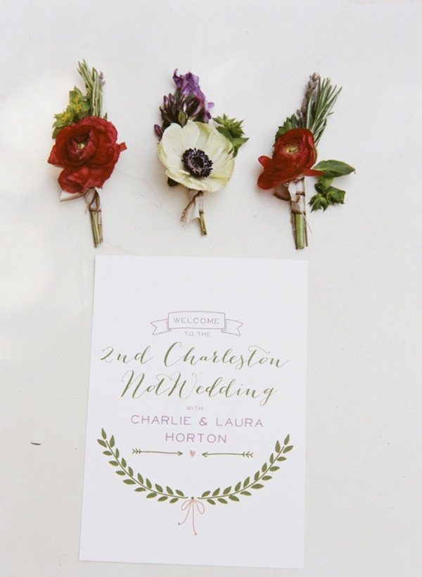 Simple and sweet boutonnieres