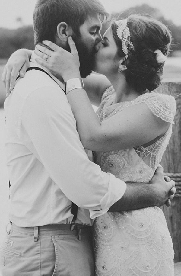 The wedding kiss! Sigh!