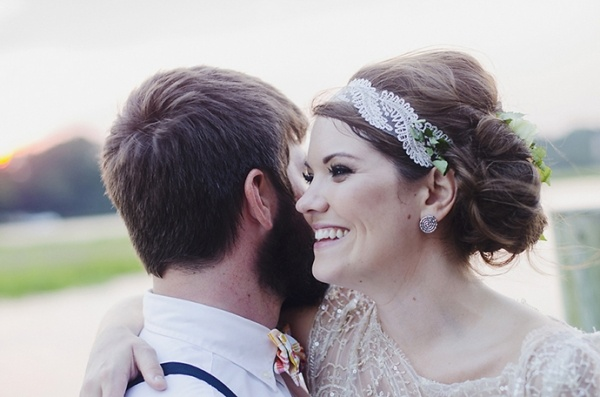 Lovely vintage bride and groom photo