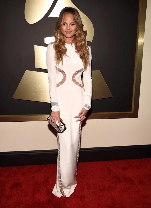 Chrissy Teigen Grammy style