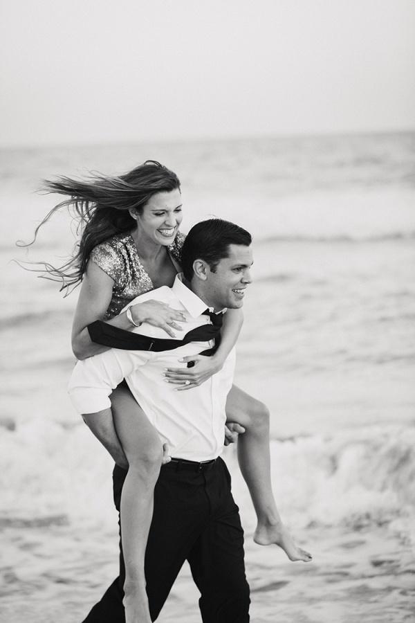 Adorable beach engagement photos