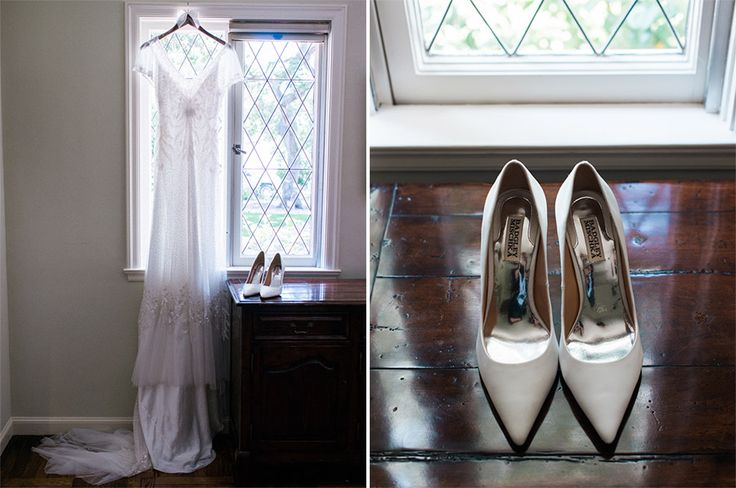 Wedding dress & wedding shoes