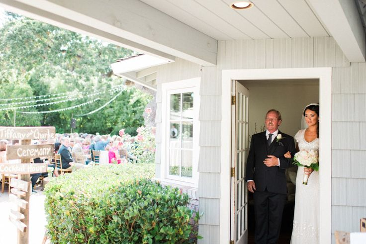Before the ceremony photo of the bride and her father