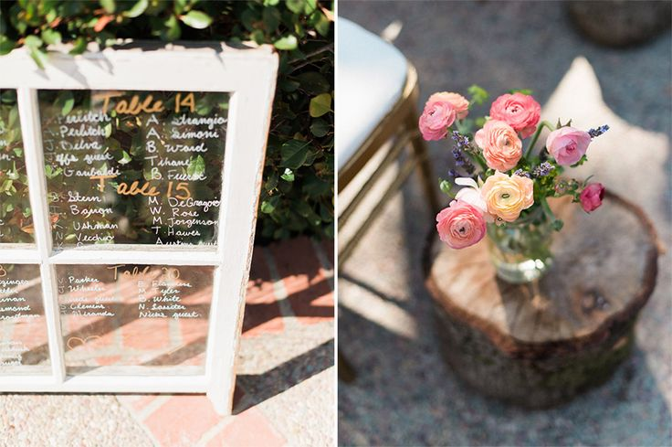 DIY wedding seating chart