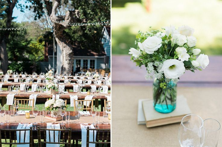 Gorgeous outdoor wedding ceremony in a backyard