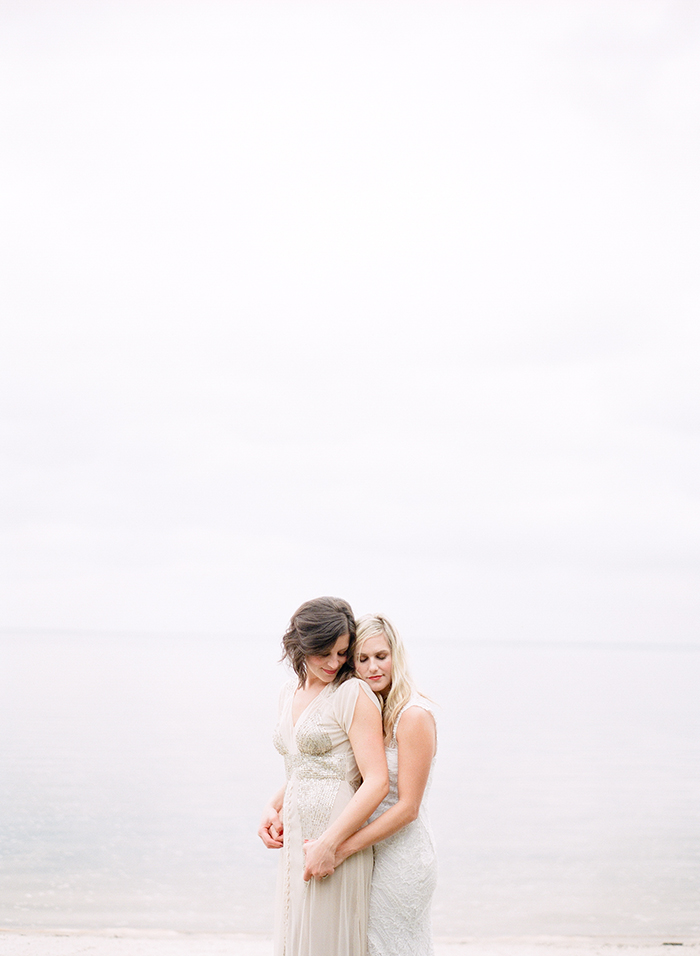 Gorgeous lesbian wedding photo