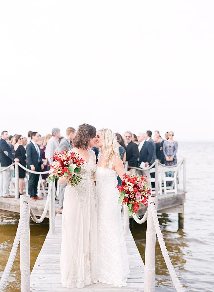 Lesbian wedding ceremony