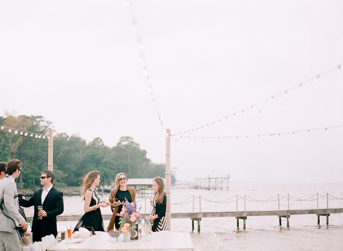 Ocean wedding reception