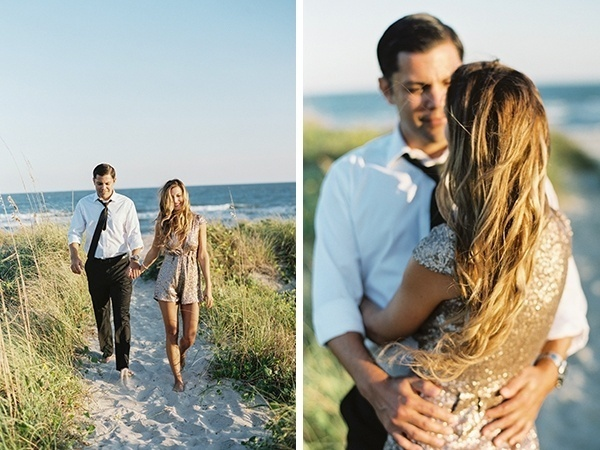 Sweet beach engagement photo ideas
