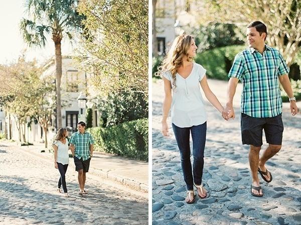 Gorgeous stylish Charleston engagement photos!