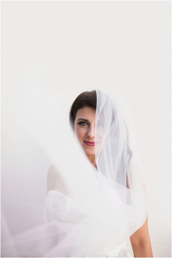 Gorgeous photo of a beautiful bride! Wedding photography by Marissa Maharaj.
