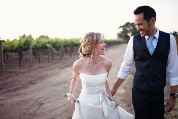 Stunning vineyard wedding ceremony.  Photo courtesy of Marissa Maharaj.