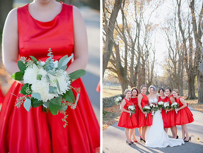 Red bridesmaid wedding dresses. So gorgeous!