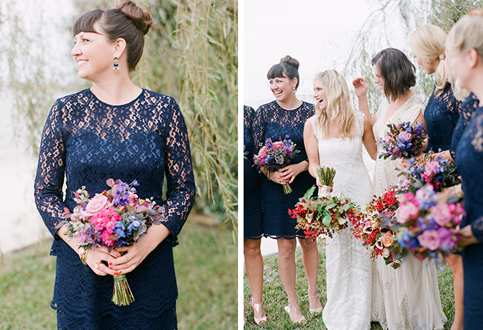 Brides and their bridesmaids