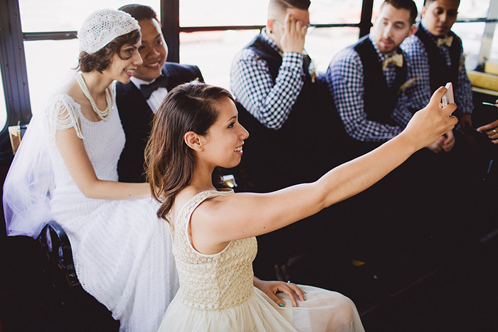 Fun wedding day photo idea