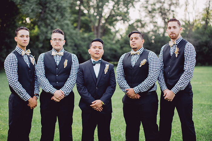 Vintage groomsmen style