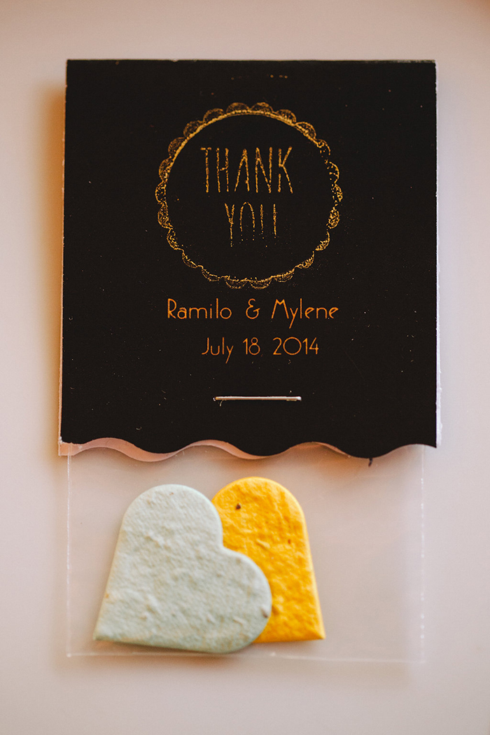 Art deco wedding favor idea